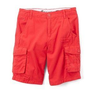 Boys Rocawear red fineline R&R cargo shorts, Sz. 8